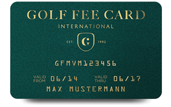 GOLF FEE CARD INTERNATIONAL