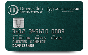 DINERS CLUB<br> GOLF FEE CARD